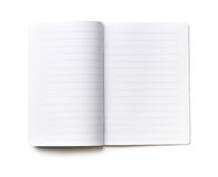 Open notebook paper with blue lines Royalty Free Stock Photos
