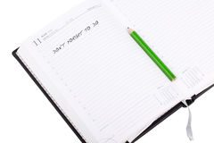 Open notebook with sign Royalty Free Stock Photos