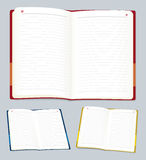 Open notebook (vector) Stock Photo