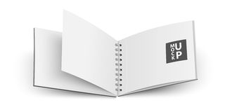 Open notebook. Vector Royalty Free Stock Images