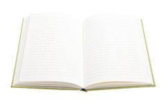 Open notebook  on white background Royalty Free Stock Photography