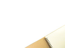 Open notebook with white page. Open notebook with white page on white background Stock Image
