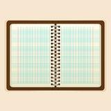 Open notebook with white page on beige background Stock Photography