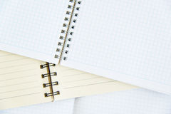 Open notebook on a wooden background Royalty Free Stock Image