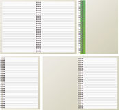 Open notebooks. Open and closed notebooks on a white background royalty free illustration