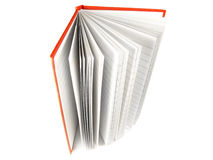 Open notepad. Isolated close-up on the white background Royalty Free Stock Photography