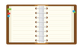 Open notepad Stock Photo