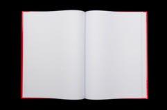 Open notepad on black background. Open blank notepad on black background Royalty Free Stock Image