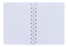 Open Notepad Isolated on White Background. Royalty Free Stock Photos