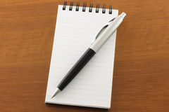 Open notepad and pen Royalty Free Stock Photo