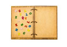 open notepad sheets of parchment royalty free stock photography
