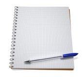 Open notitieboekje met pen Royalty-vrije Stock Foto's