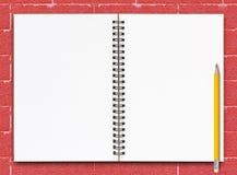 Open notitieboekjepagina Royalty-vrije Stock Afbeelding