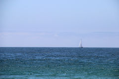 Open ocean and sail Stock Photo