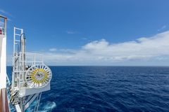 Ocean horizon view from a ship royalty free stock photography