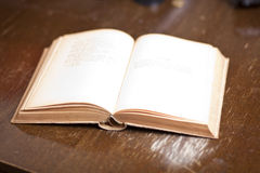 Open Old Antique Book Royalty Free Stock Image