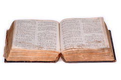 Open Old Bible Version 5. Stock Image