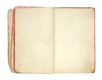 Open old blank book Royalty Free Stock Photos