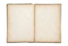 Open old blank book Royalty Free Stock Image