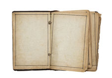 Open old blank book. With clipping path Royalty Free Stock Photography