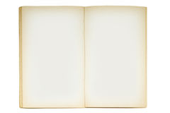 Open old blank book. Isolated on white Stock Photo