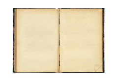 Open old blank book Stock Photography