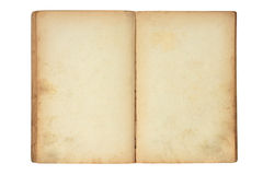 Open old blank book. Isolated on white Stock Image
