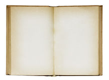 Open old blank book. Stock Image