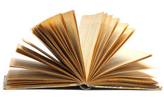 Open Old Book Stock Image