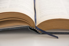 Open old book, antique literature Royalty Free Stock Photo