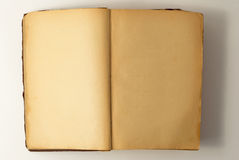 Open old book background. Royalty Free Stock Photo