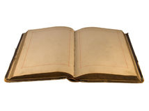 The open old  book with empty pages Royalty Free Stock Images