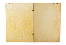 Open old book isolated on white background Royalty Free Stock Photos