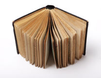 Open old book on white background Stock Photography