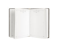Open old book on white background. Open old book on a white background Royalty Free Stock Image