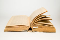 Open old book on a white background Royalty Free Stock Photo