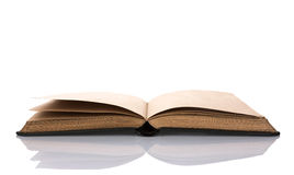 Open old book on white background Royalty Free Stock Image