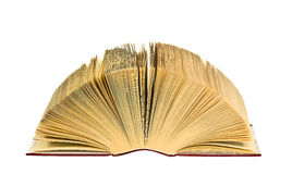 Open old book on white background. Isolated. Open old book on white background Stock Photo