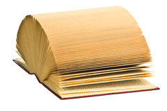 Open old book on white background Royalty Free Stock Images