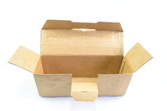 Open old brown paper box Royalty Free Stock Photography