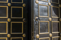 Open old door to the Orthodox Church Royalty Free Stock Photography