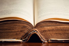 Open Old Holy Bible Close Up Royalty Free Stock Photo
