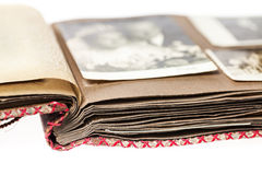 Free Open Old Photo Album With Blurred Wedding Image Stock Image - 34182911