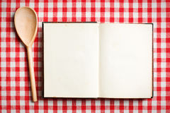 Open old recipe book Royalty Free Stock Image