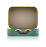 Open old retro vintage suitcase for travel Royalty Free Stock Photography