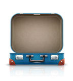 Open old retro vintage suitcase for travel Royalty Free Stock Images
