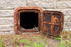 Open Old Rusted Iron Door Royalty Free Stock Photos