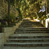 Open old stone stairs Royalty Free Stock Photography