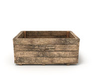 Open old wooden box Royalty Free Stock Image
