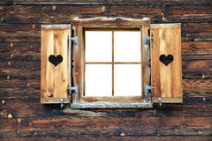 Open old wooden window Royalty Free Stock Images